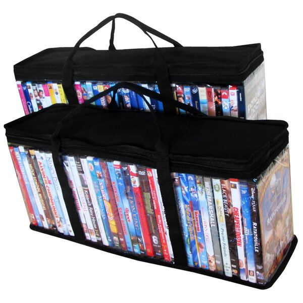 DVD Organizers Multimedia Tabletop Storage (Set of 2) by Evelots
