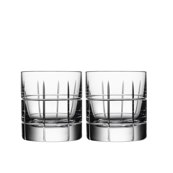 Street Old Fashioned Glass 3 oz. Crystal (Set of 2) by Orrefors
