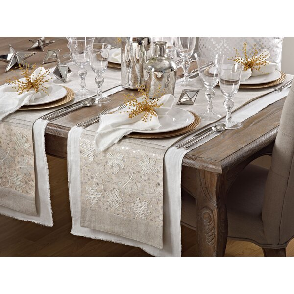 Maple Leaves Applique Table Runner by Saro