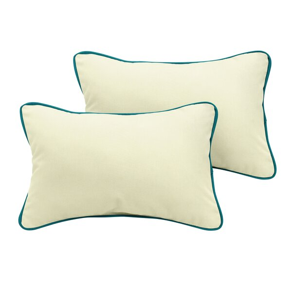Barnsley Sunbrella Outdoor Lumbar Pillow (Set of 2) by Rosecliff Heights