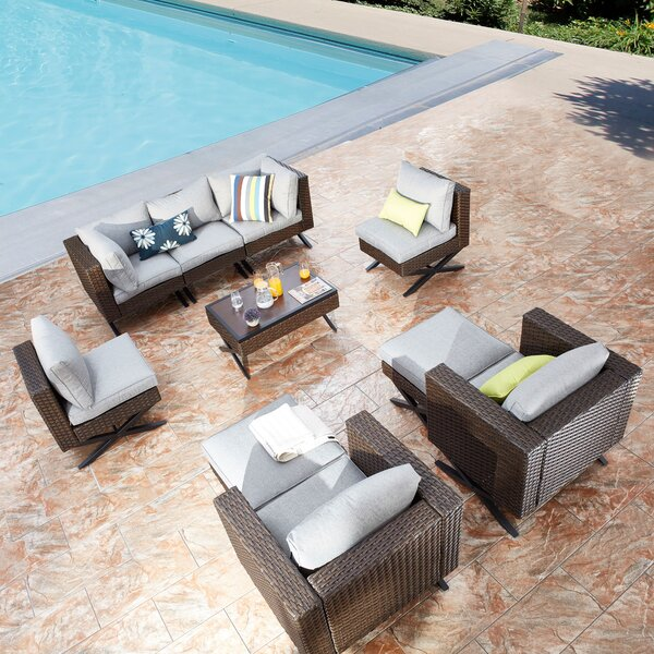 Rimersburg 10 Piece Sofa Seating Group with Cushions by Latitude Run