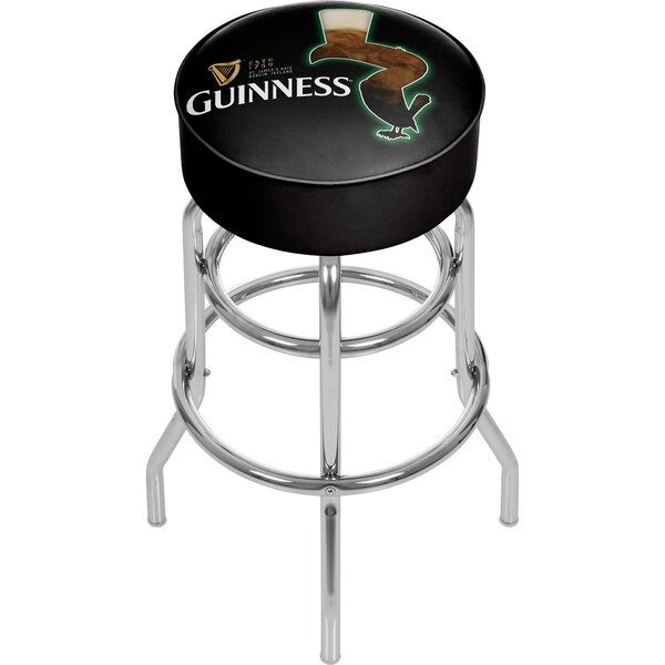 Guinness Feathering 31 Swivel Bar Stool by Trademark Global