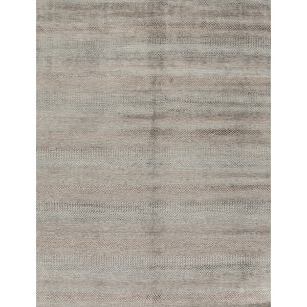 Hand-Knotted 7.10' x 10' Light Blue/Brown Area Rug