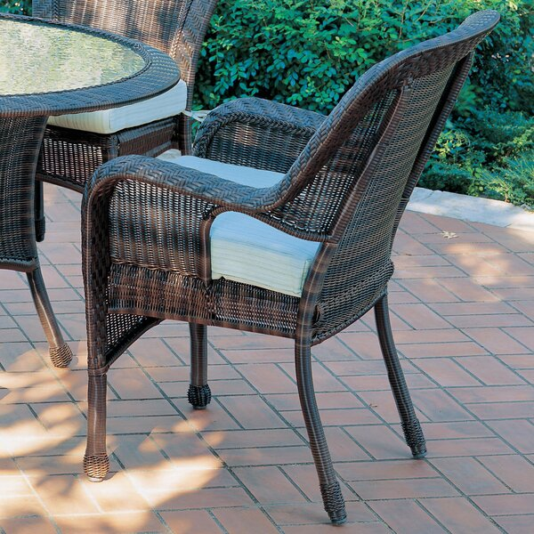 South Lamar Patio Dining Chair with Cushion by Bay Isle Home