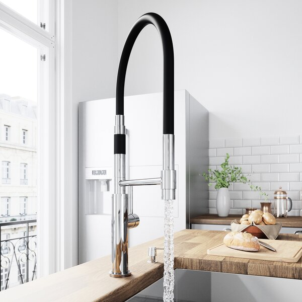 Norwood Magnetic Spray Pull Down Single Handle Kitchen Faucet with Soap Dispenser by VIGO