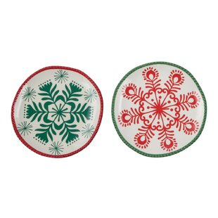 Snowflake Bread and Butter Plate Set  sc 1 st  Wayfair & Snowflake Paper Plates | Wayfair