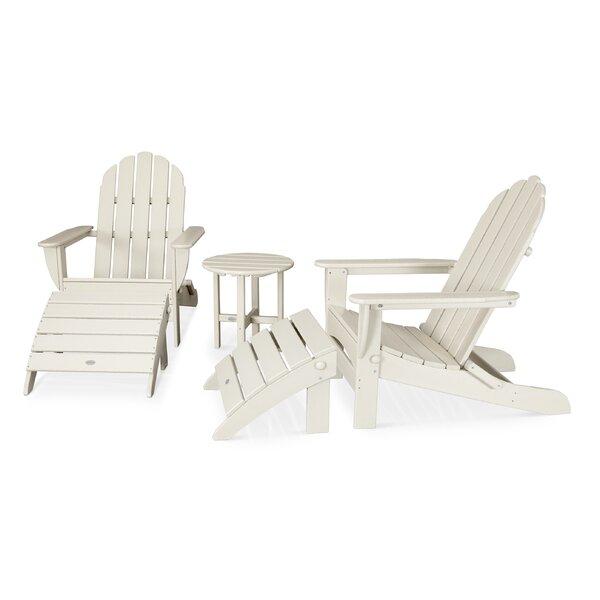 Classic Adirondack Oversized Curveback 5 Piece Seating Group by POLYWOOD®