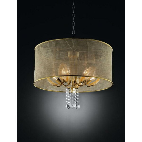 Caden 5 - Light Shaded Drum Chandelier by House of Hampton House of Hampton