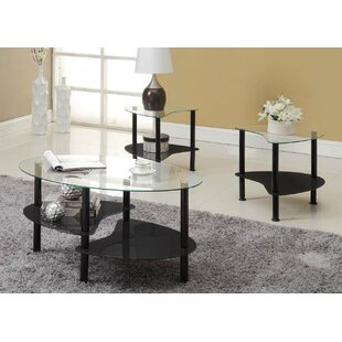 Review Clint 3 Piece Coffee Table Set by Wade Logan
