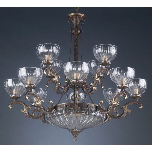 Ezzell 14 - Light Shaded Tiered Chandelier by Astoria Grand Astoria Grand