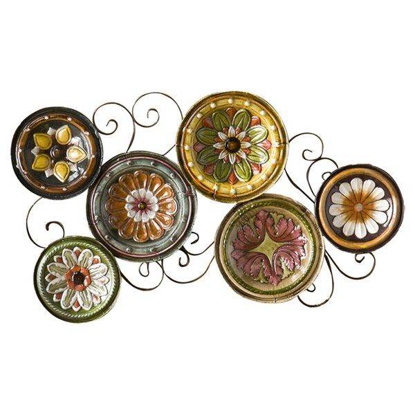 Scattered Metal Italian Plates Wall Décor by Three Posts