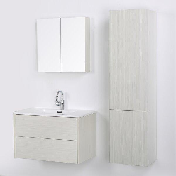 32 Wall Mounted Single Bathroom Vanity Set with Mirror by Streamline Bath