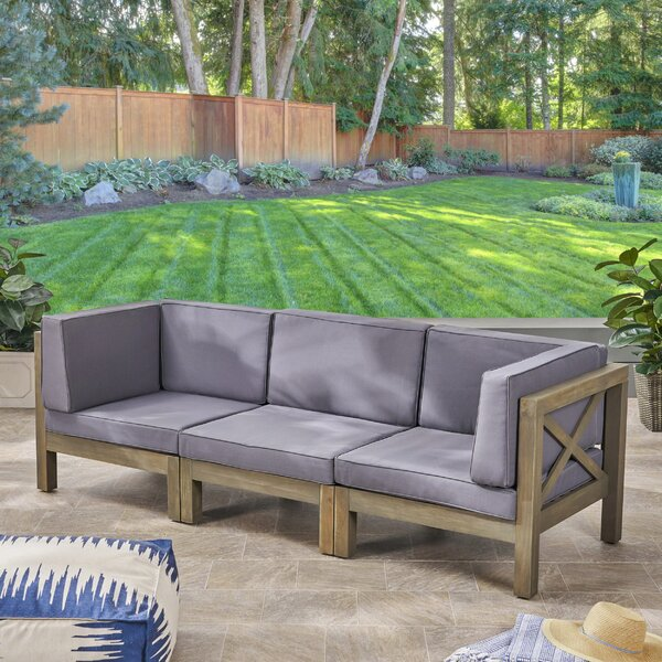 Ellison Patio Sofa with Cushions by Highland Dunes