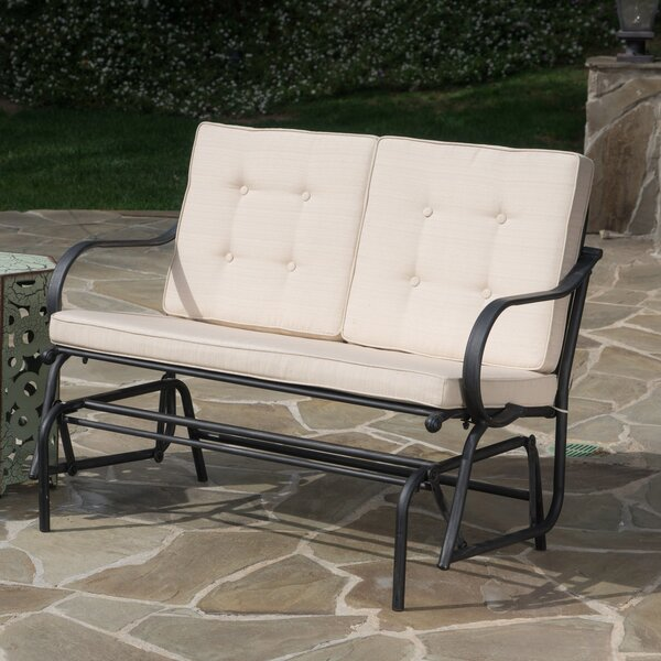 Demello Outdoor Iron Garden Bench by Alcott Hill