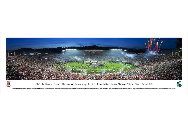 NCAA Rose Bowl 2014 by James Blakeway Photographic Print by Blakeway Worldwide Panoramas, Inc