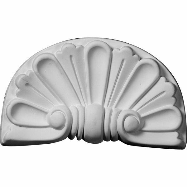 Modern 5 3/8H x 9W x 1 1/8D Shell Onlay by Ekena Millwork