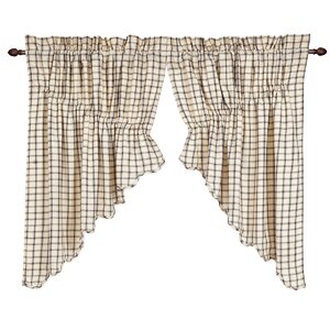 Patterson Scalloped Prairie Swag Curtain Valance (Set of 2)