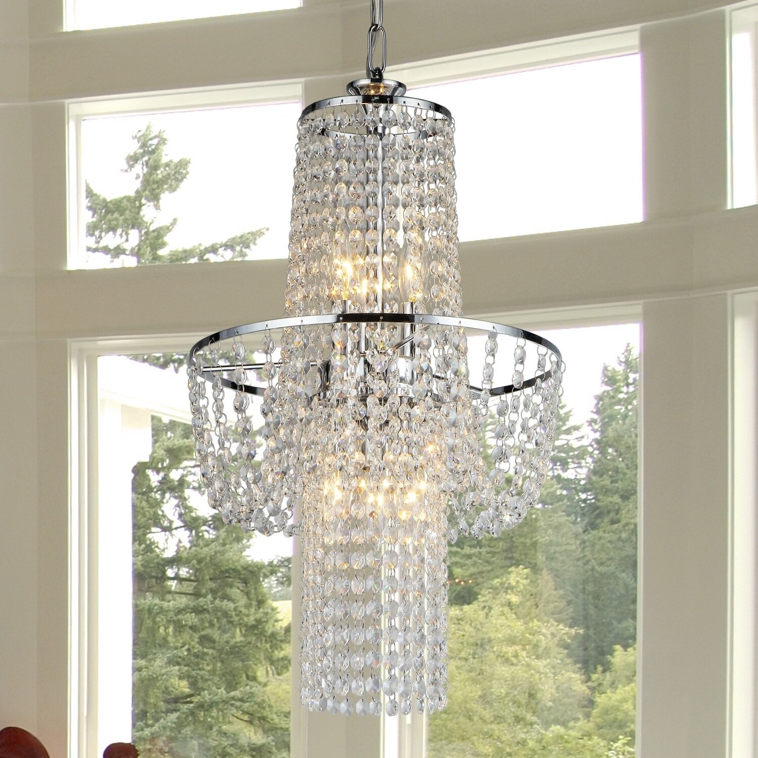 Warehouse of Tiffany Charlotte 6 Light Crystal Chandelier