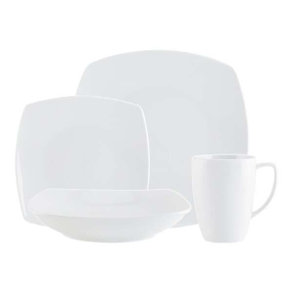 Encarta Plain 16 Piece Dinnerware Set, Service for