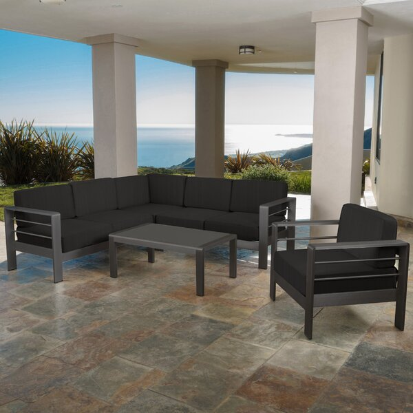 Royalston 9 Piece Sectional Seating Group with Cushions Brayden Studio BYST6168