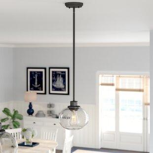 Check Prices Braxton 1-Light Metal Mini Pendant By Beachcrest Home