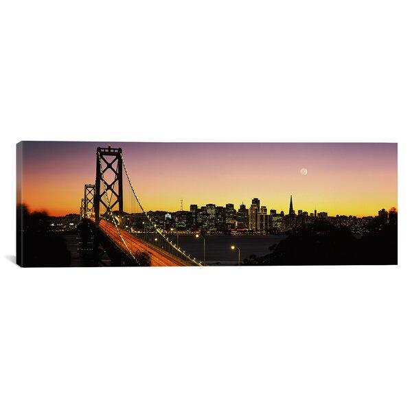 Panoramic Bay Bridge San Francisco, California Photographic Print on Canvas by iCanvas