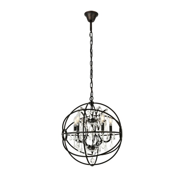 Svante 5 - Light Candle Style Globe Chandelier By Willa Arlo Interiors