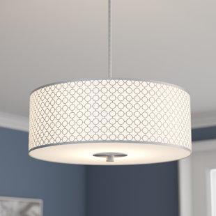 Drum chandeliers youll love wayfair fayme 3 light drum chandelier aloadofball Choice Image