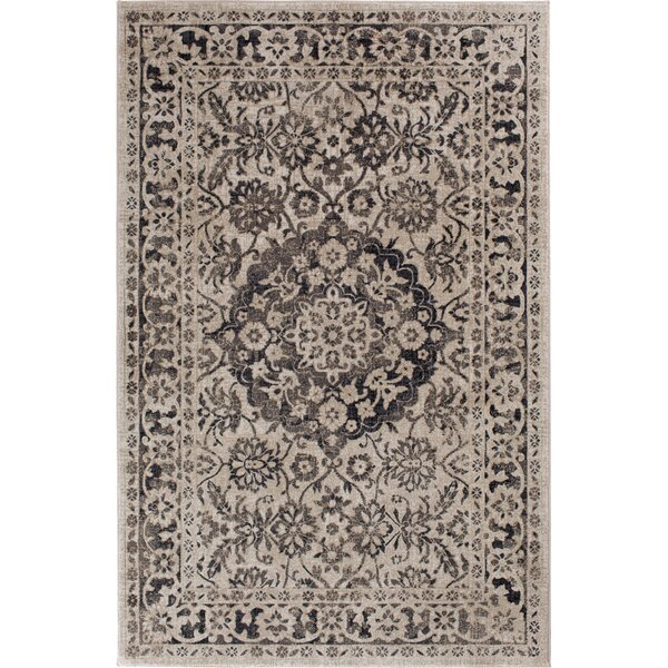 Huang Maja Gray/Beige Area Rug by Alcott Hill