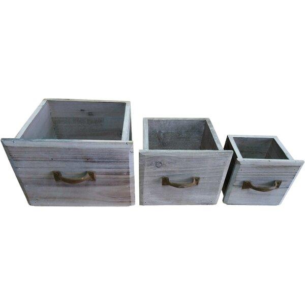 Veney 3- Piece Wood Planter Box Set by Ophelia & Co.