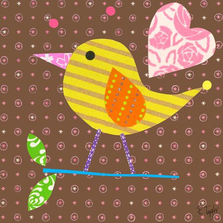 Mod Chick Canvas Art by Oopsy Daisy
