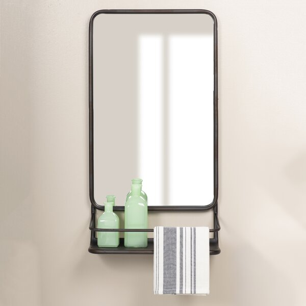 Amata Metal Wall Mounted Mirror by Gracie Oaks