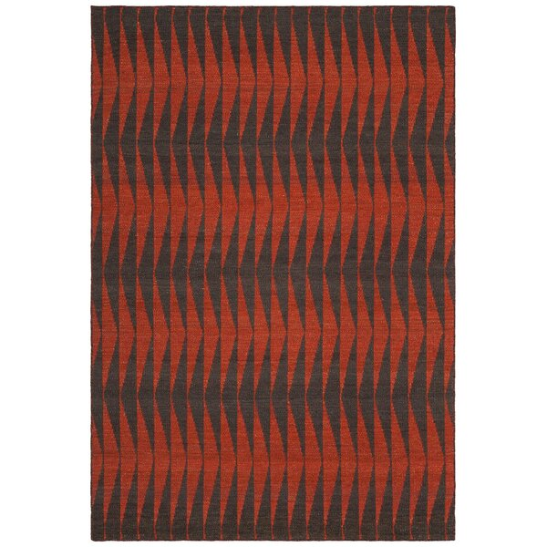 Reagan Hand-Woven Wool Red Area Rug by Brayden Studio