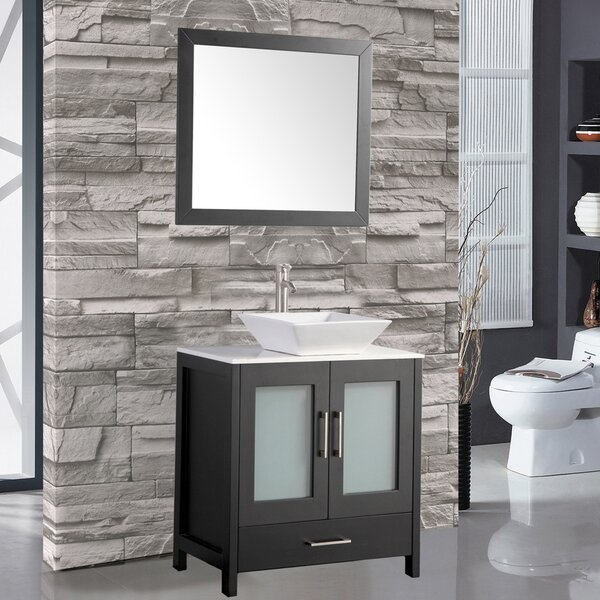 Powley 24 Single Sink Bathroom Vanity Set with Mirror by Orren EllisPowley 24 Single Sink Bathroom Vanity Set with Mirror by Orren Ellis