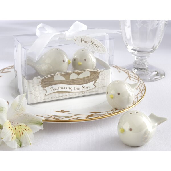 Jablonski Feathering The Nest Ceramic Birds Salt and Pepper Shaker (Set of 10) by August Grove