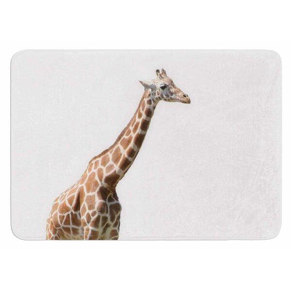 Giraffe by Sylvia Coomes Bath Mat by East Urban Home