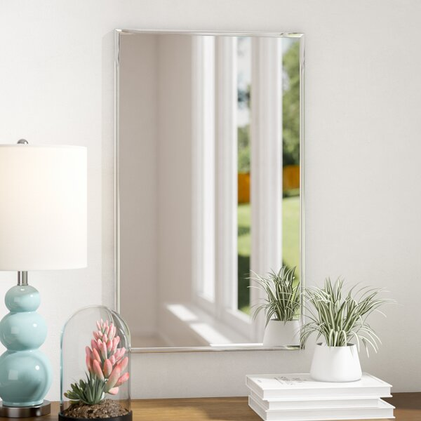 Rectangle Framed Wall Mirror by Mercury Row