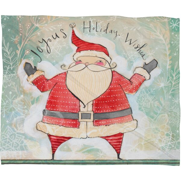 Donmoyer Joyous Holiday Wishes Fleece Polyester Throw Blanket by Brayden Studio