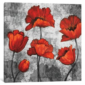 'Evening Red I' Painting Print on Canvas by East Urban Home