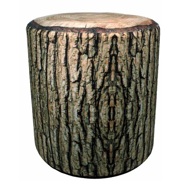 Cushioned Log Accent Stool by Streamline