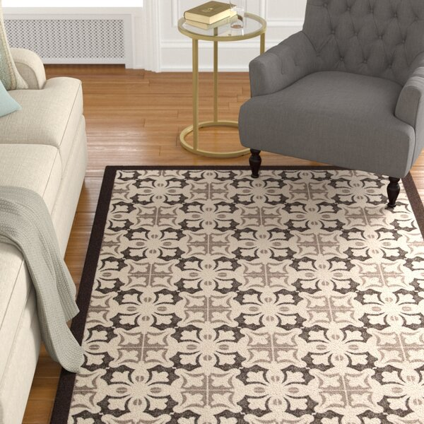 Hanson Brown/White Area Rug by Charlton Home