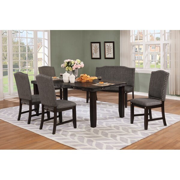 Dutil 6 Piece Solid Wood Dining Set by Darby Home Co