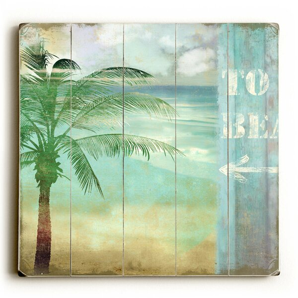 Beach Palm Tree Graphic Art by Artehouse LLC