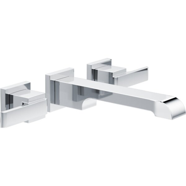 Ara Two Handle Wall-Mount Lavatory Faucet by Delta
