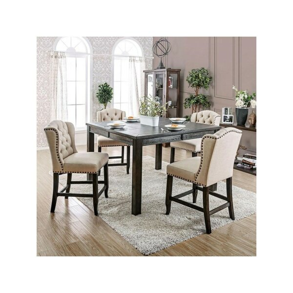 Duley Rectangular 5 Piece Pub Table Set by Gracie Oaks