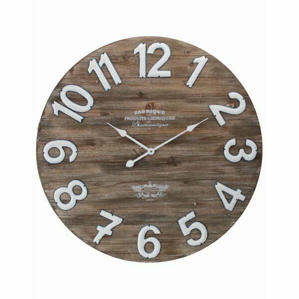 Oversized Wathen Wood Home 31.5 Wall Clock by Gracie Oaks