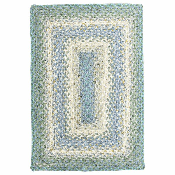 Cotton Braided Baja Blue Area Rug by Homespice Decor