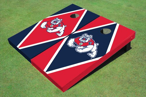NCAA 10 Piece Diamond Cornhole Board Set by All American Tailgate
