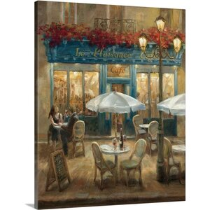 Paris Cafe I by Danhui Nai Painting Print on Wrapped Canvas by Great Big Canvas