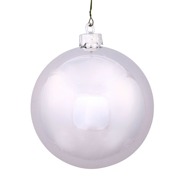 UV Drilled Cap Shiny Ball Ornament by The Holiday Aisle